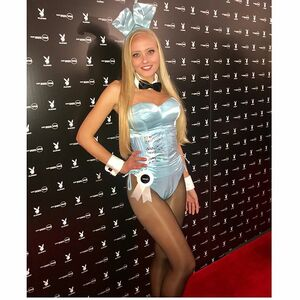 @Playboy Bunny action for Super Bowl LII.  Thank you @snoopdog. #memories 🐰