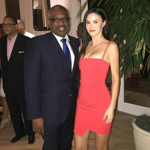The Prime Minister of Bahamas's Dr. Hubert Minnis and I at the Bell Ringing Ceremony for the new SLS Baha Mar last night. @slsbahamar #worldofSBE #slsbahamar