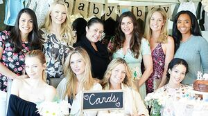 What a beautiful day for a baby shower surprise for Oliver 💙✨Beyond grateful for the love & support of these beauties🦋#friendswhoarefamily #playmatesisters Shout out to the hostess w/ the mostess @shellmclaughlin (hire her for all your decorating & gf/vegan cake needs!) & @marketajanska ❤️oversharing because well... baby brain & lack of sleep... so I'm indecisive but very appreciative🤗