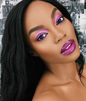 """That time @kingmalimagic slaaayye(Wait-I don't say """"slay"""") That time @kingmalimagic did a very good job on my face for @anastasiabeverlyhills. She's literally one of my faves because she dont change and rearrange my face with all them tricks. Some people still try and do that to me which is a crime. Find the beauty in what you were born with.  #SelfLoveOverEverything"""